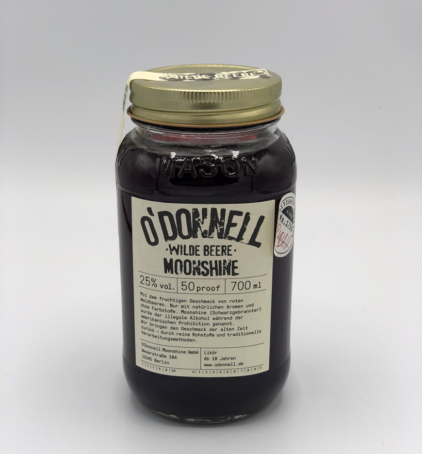 O`DONNELL MOONSHINE WILDE BEERE